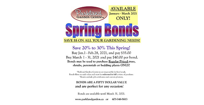 Buy Your Spring Bonds Today